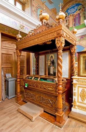Urna relicario actual de San Kuksha de Odessa.