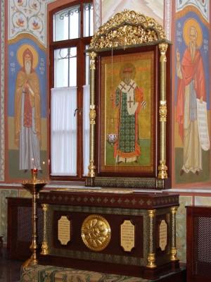 Actual tumba del santo.