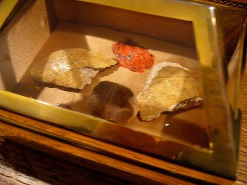 Reliquias del cráneo en Copenhagen (Dinamarca).