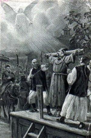 Representación del martirio.