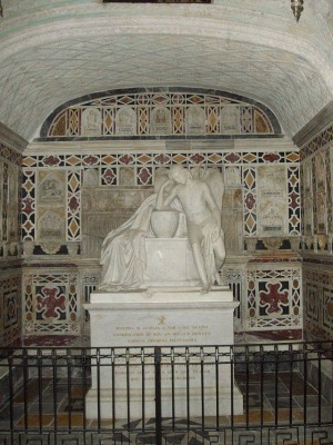 Capilla de San Lucífero en la cripta de la catedral de Cagliari. Bajo el altar están las reliquias del santo.