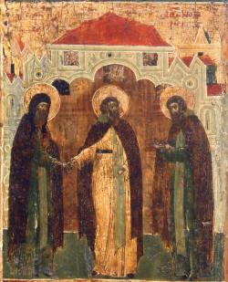 San Cirilo de Beloozero pronuncia sus votos.