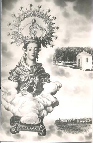 Busto de la Santa venerado en Cella, Teruel (España).