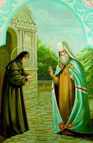 San Filareto Drozdov visita a la Santa.