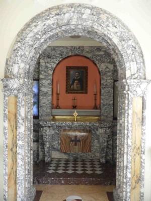 Lugar donde murió el Santo en la iglesia de Santo Tomás in Formis, convertido en capilla.