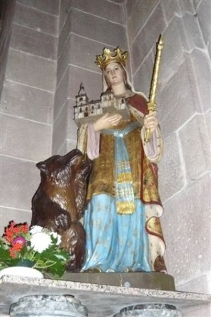 Imagen de Santa Ricarda, emperatriz.