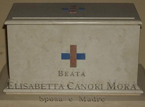 Urna de la Beata en la iglesia de San Carlos, en Roma (Italia).