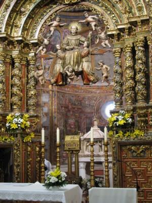 Capilla donde se encuentran sus restos en el convento de La Aguilera.