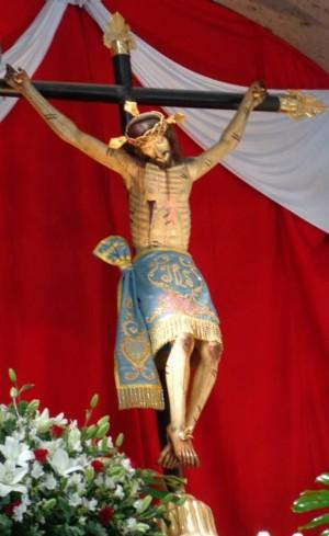 La imagen colocada en su altar. Fotografía: Parroquia de San Juan Bautista de Mexicaltzingo.