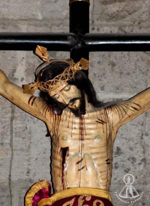 Detalle del busto de la imagen. Fotografía: Peregrino Zapopano.