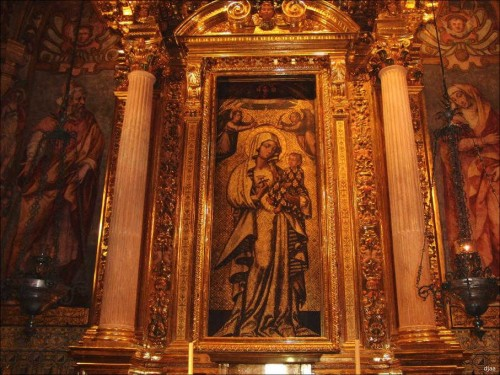 Detalle de la pintura en su capilla. Iglesia del Colegio del Patriarca, Valencia, España. Fotografía: J.A.Díez Arnal.