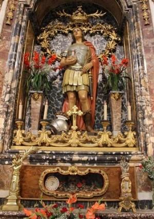 San Benedicto, mártir venerado en San Benedetto del Tronto, Italia.