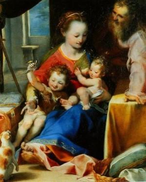 """""""La Virgen del Gato"""", óleo de Federico Barocci."""