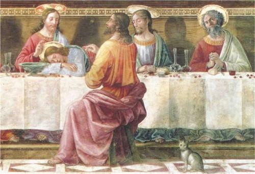 """Última Cena"", fresco de Domenico Ghirlandaio. Convento de San Marcos, Florencia, Italia."