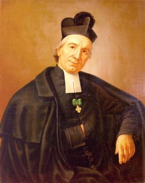 Óleo-retrato del Santo.