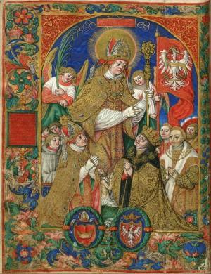 San Estanislao, patrono de Polonia. Stanislaw Samostrzelnik (siglo XVI).