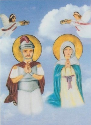 Icono ortodoxo copto de los Santos.