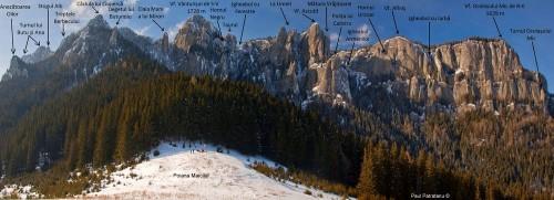 Vertiente oriental del monte Ceahlau. Fotografía: Paul Pătrăţanu.