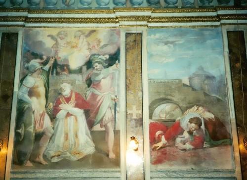 Martirio del Santo. Fresco de Antonio Circignani, Capilla del Palacio Altemps, Roma (Italia).