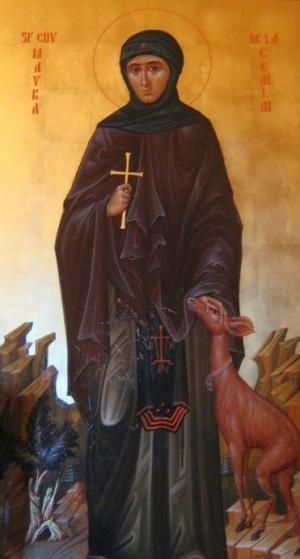Icono ortodoxo rumano de la Venerable Maura de Ceahlău.