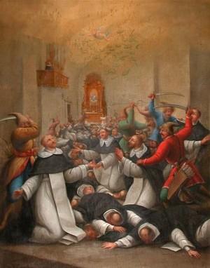 Lienzo del martirio en el convento dominico de Sandomierz.