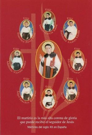 Composición de los mártires carmelitas hecha para la beatificación.