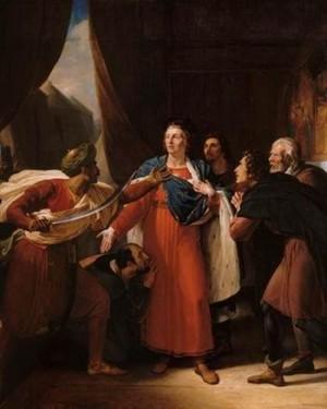 San Luís es hecho prisionero. Cuadro en el Castillo de Versalles.