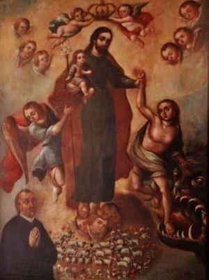 """""""San José de la Luz"""", colección del Museo de arte religioso de Santa Mónica, Puebla. Fotografía de Enrique Tamayo."""