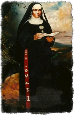 Lienzo-retrato de la Santa.