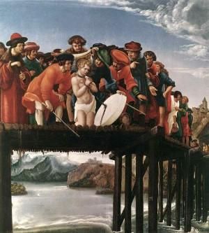 Martiro del Santo, obra de Albrecht Aldörfer. Galería de los Uffizi, Florencia, Italia.