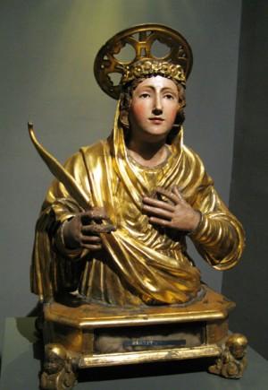 Busto-relicario de la Santa. Museo diocesano de Nápoles, Italia.