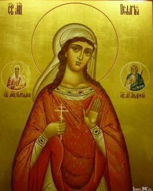 Icono ortodoxo ruso de la Santa. Fuente: www.iconsv.ru