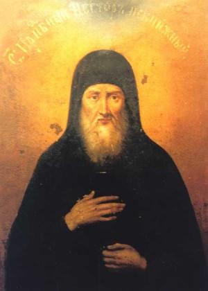 Icono ortodoxo ucraniano de San Néstor el Iletrado.