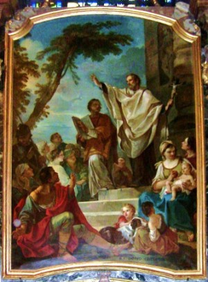 Predicación de los dos santos. Obra de Charles Joseph Natoire (1700-1777).