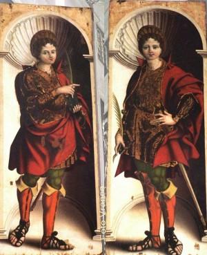 Díptico de los santos. Pollina (Palermo), Italia.