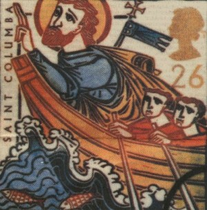 San Columba se traslada a la isla de Iona (1400).