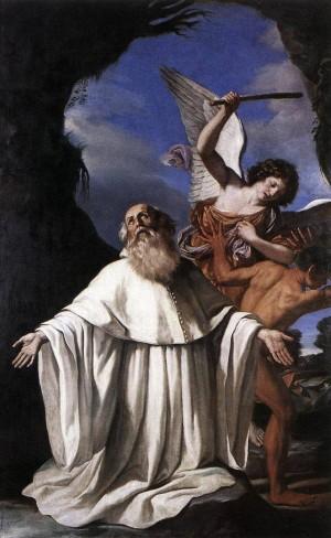 Cuadro de Il Guercino (1641), obra conservada en la iglesia de San Romualdo en Ravenna, Italia.