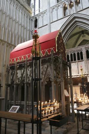 Sarcófago del santo en Saint Albans.