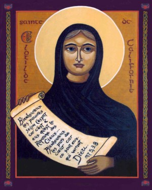 Icono ortodoxo francés de la Santa.