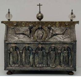 Arqueta con reliquias de los Santos Sotero Papa, Cayo, Nicasio, Dionisio y sus compañeros. Toledo (España).