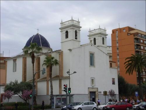 Vista de la ermita-parroquia de Monteolivete, Valencia (España).
