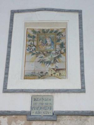 Azulejo a la entrada de la ermita de Monteolivete.