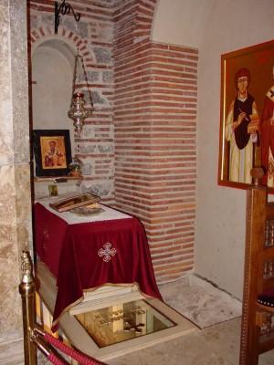 Tumba actual del santo.