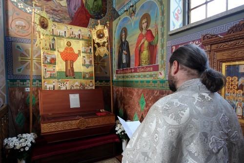 Urna de las reliquias en la parroquia ortodoxa de Gorlitz (Polonia).