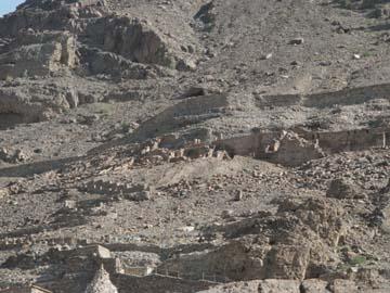 La cueva de Lot, que se encuentra justo por encima del borde oriental del Mar Muerto.