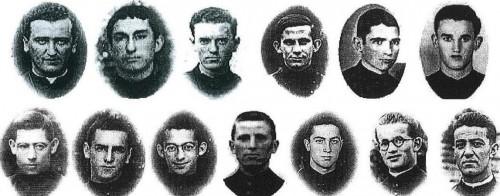 Beatos mártires misioneros oblatos de María Inmaculada.