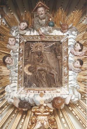 Imagen original de la Virgen al Pie de la Cruz. Puçol, Valencia (España).