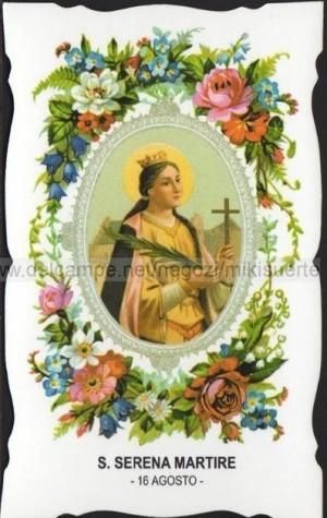 Estampa devocional italiana de la Santa. Fuente: www.delcampe.net.