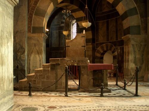 Trono de Carlomagno en  la catedral de Aachen (Alemania).
