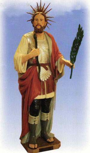 Imagen del santo en la iglesia de San Antonio abad de Castiglione Marittimo (Italia).